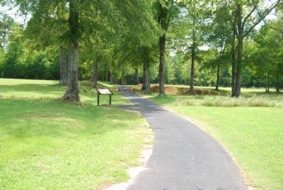 Walking Path Leading to The Town of Ninety Six Marker image. Click for full size.