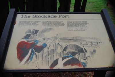 Original The Stockade Fort Marker image. Click for full size.