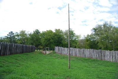 Stockade Flag Pole image. Click for full size.