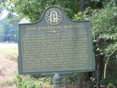 John Houstoun McIntosh Marker image. Click for full size.