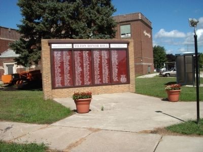 Wide View  - - Tilton Honor Roll Marker image. Click for full size.
