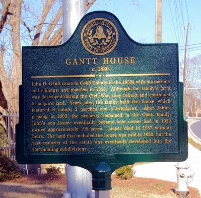 Gantt House Marker image. Click for full size.