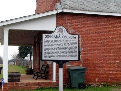 Goggans, Georgia Marker image. Click for full size.