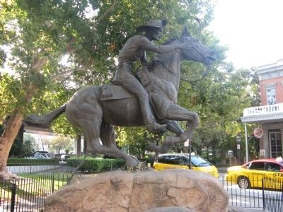 The Pony Express Statue - Looking Southeast image. Click for full size.