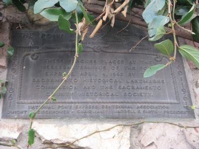Pony Express Plaque image. Click for full size.