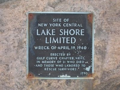 Lake Shore Limited Wreck Marker image. Click for full size.