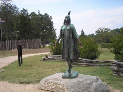 Statue of Pocahontas image. Click for full size.