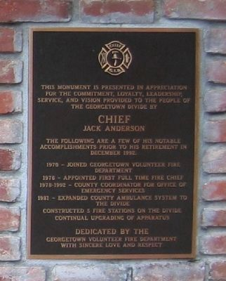 Chief Jack Anderson Marker image. Click for full size.