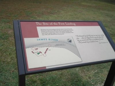 The Site of the First Landing Marker image. Click for full size.