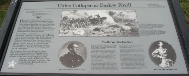 Union Collapse at Barlow Knoll Marker image. Click for full size.