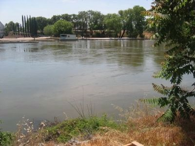 San Joaquin River - Site of The Comet Launch and First Ferry Crossing image. Click for full size.