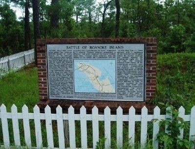 Battle of Roanoke Island Marker image. Click for full size.