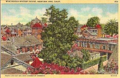 Vintage Postcard - Winchester Mystery House image. Click for full size.