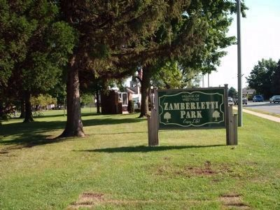 Zamberletti Park Sign image. Click for full size.