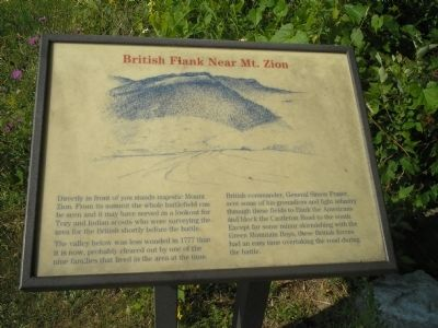 British Flank Near Mt. Zion Marker image. Click for full size.