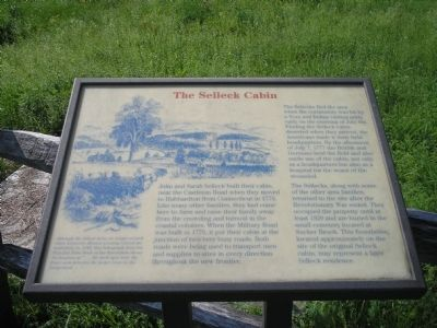 The Selleck Cabin Marker image. Click for full size.