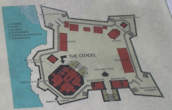 Fort and Citadel Diagram from Marker image. Click for full size.