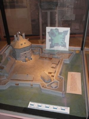 Model of Fort St. Frédéric image. Click for full size.