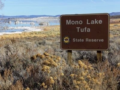 Entrance Sign for Mono Lake Tufa State Reserve image. Click for full size.