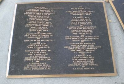 California Peace Officers' Memorial - Plaque with Sheriff Dolan's name image. Click for full size.