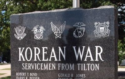 Top View - - Korean War  - -  Left Marker image. Click for full size.