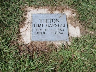 Tilton Time Capsule image. Click for full size.