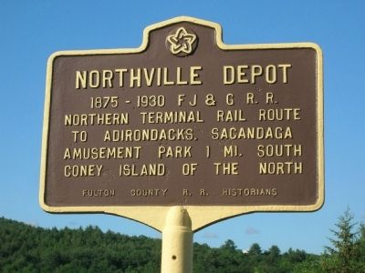 Northville Depot Marker - Northville, New York image. Click for full size.