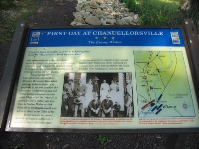 First Day at Chancellorsville Marker image. Click for full size.