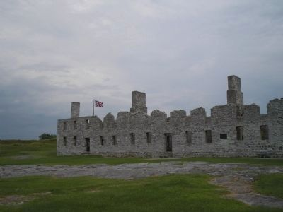 Remains of British Fort at Crown Point image. Click for full size.