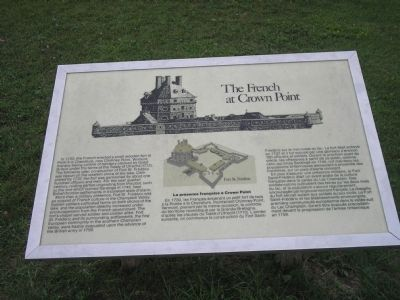 The French at Crown Point Marker image. Click for full size.