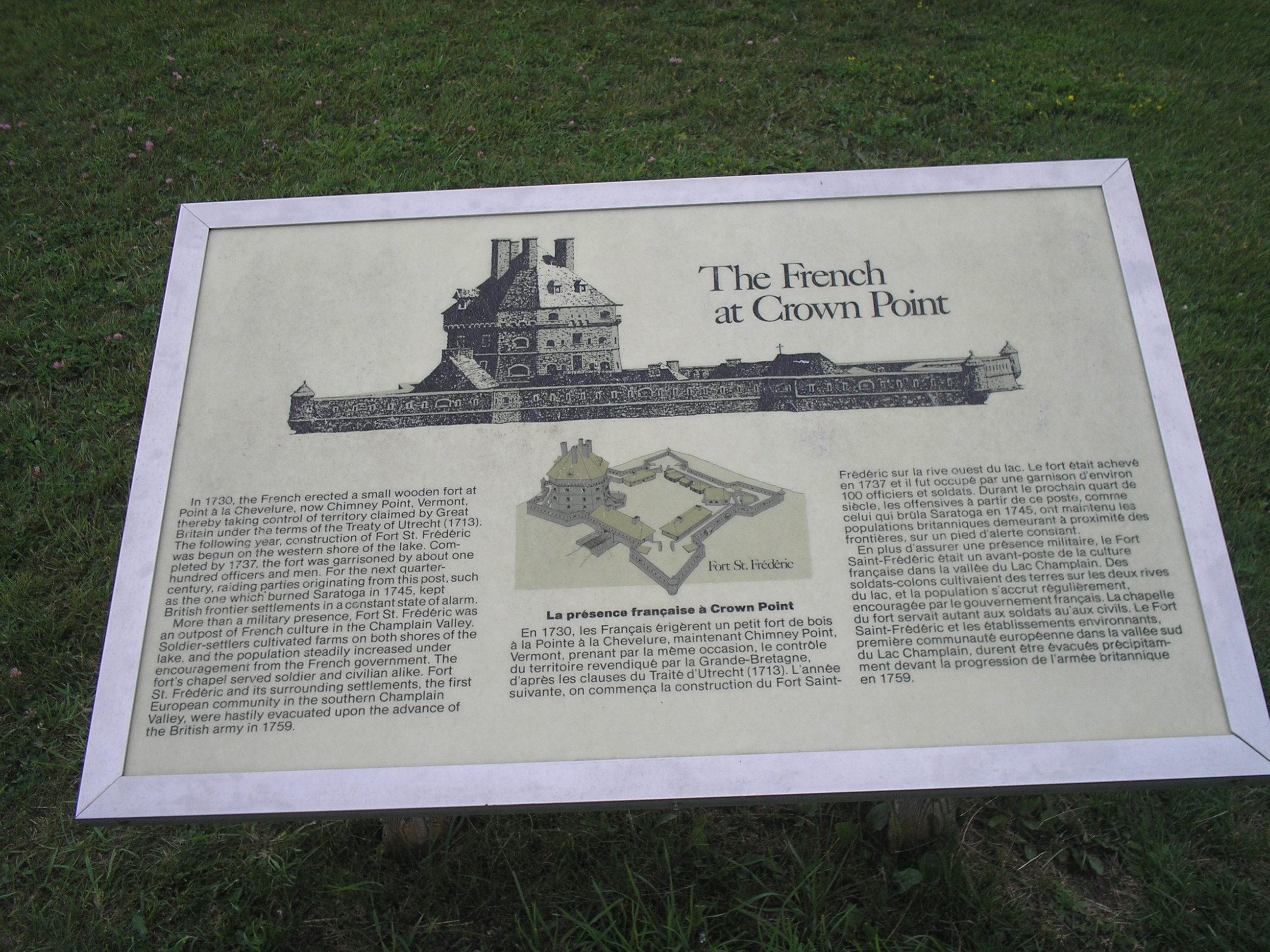The French at Crown Point Marker