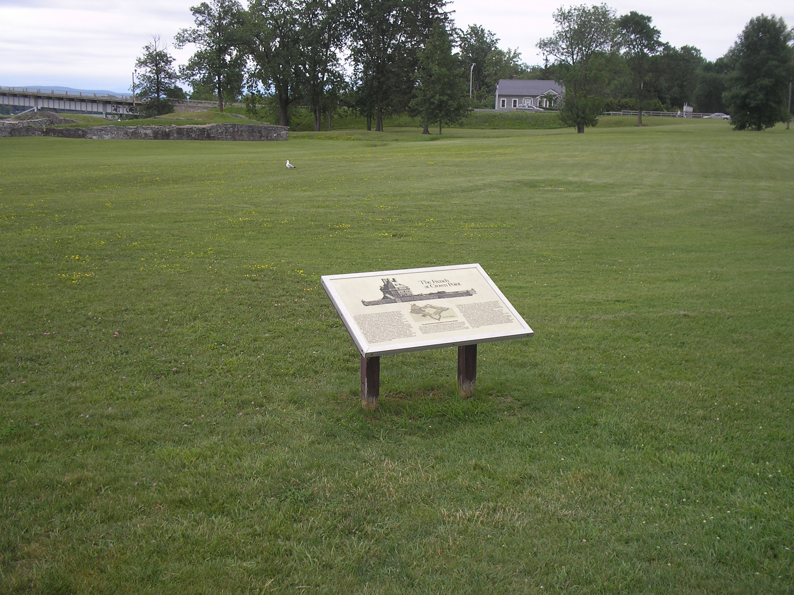 Marker at Crown Point State Historic Site