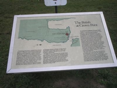 The British at Crown Point Marker image. Click for full size.