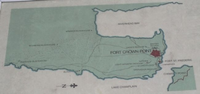 Crown Point Area Map from Marker image. Click for full size.