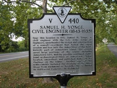 Samuel H. Yonge, Civil Engineer (1843-1935) Marker image. Click for full size.