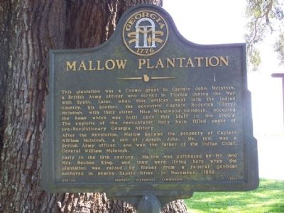 Mallow Plantation Marker image. Click for full size.