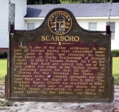 Scarboro Marker image. Click for full size.