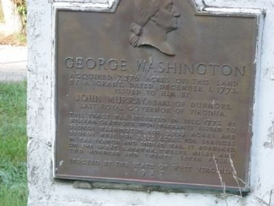 George Washington Marker on its Previous Mounting image. Click for full size.