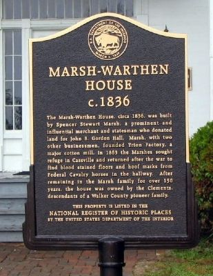 Marsh-Warthen House Marker image. Click for full size.