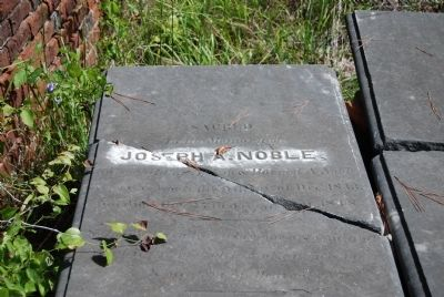 Joseph A. Noble Tombstone image. Click for full size.