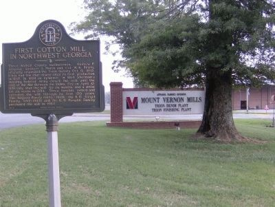 Marker and Mount Vernon Mills Entrance image. Click for full size.