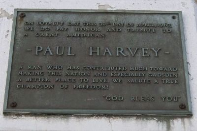 Paul Harvey Loyalty Day Marker image. Click for full size.
