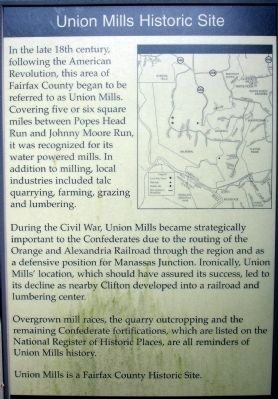 Union Mills Historic Site Marker image. Click for full size.