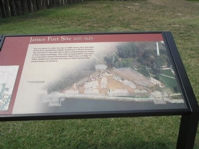 James Fort Site 1607 – 1624 Marker image. Click for full size.