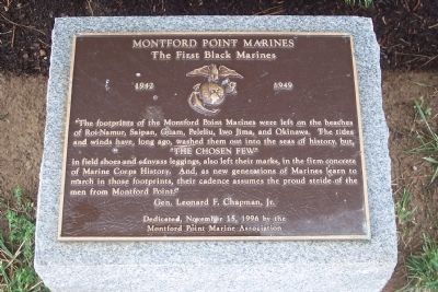 Montford Point Marines Marker image. Click for full size.