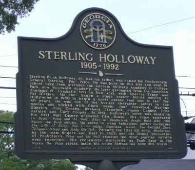 Sterling Holloway 1905-1992 Marker image. Click for full size.