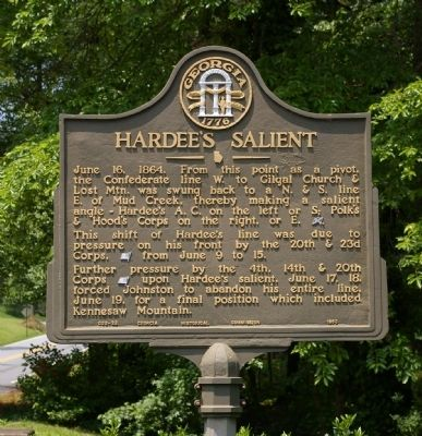 Hardee's Salient Marker image. Click for full size.