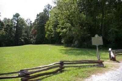 Federal 15th Corps Marker (on the right) at Kennesaw Mountain National Battlefield image. Click for full size.