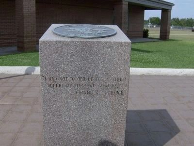 Charles A. Lindbergh Soloed Here 1923 Memorial image. Click for full size.
