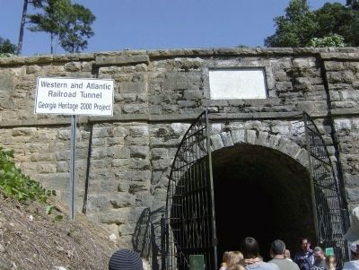 Western & Atlantic Railroad Tunnel Entrance image. Click for full size.